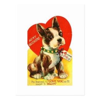 Perrito hermoso de Boston Terrier de la tarjeta Postal