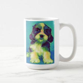 perrito hundido del tzu tazas de café