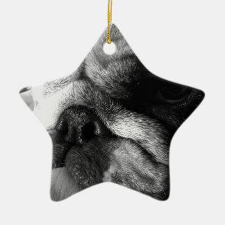 Perrito inglés blanco y negro del dogo ornamentos para reyes magos