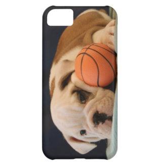 Perrito inglés del baloncesto del dogo funda para iPhone 5C