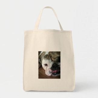 Perrito inglés del dogo bolsas