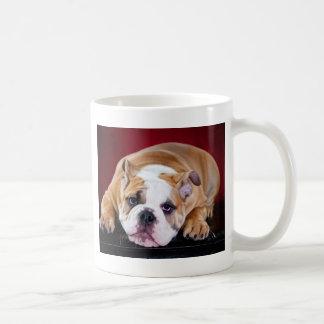 Perrito inglés del dogo taza de café