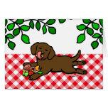 Perrito inocente de Labrador del chocolate Tarjeta De Felicitación