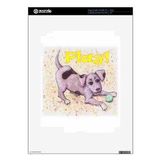 Perrito juguetón calcomanías para el iPad 2