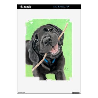 Perrito juguetón del laboratorio del negro del iPad 2 skin
