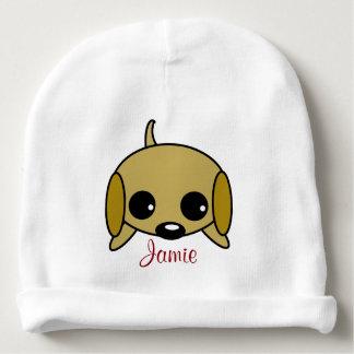 Perrito juguetón personalizado gorrito para bebe