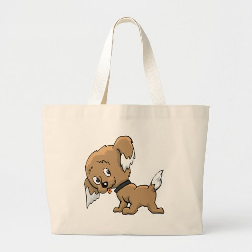 Perrito lindo bolsa tela grande