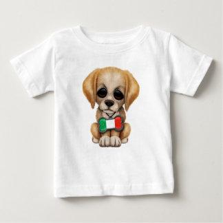 Perrito lindo con la etiqueta italiana del mascota poleras