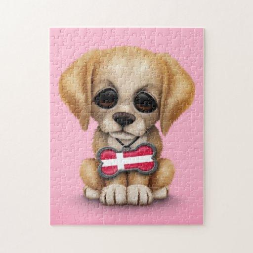 Perrito lindo con la placa de identificación danes puzzles con fotos