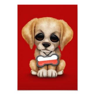 """Perrito lindo con la placa de identificación invitación 3.5"""" x 5"""""""