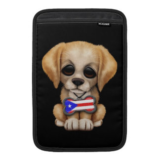 Perrito lindo con la placa de identificación puert fundas para macbook air
