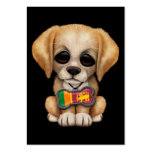 Perrito lindo con la placa de identificación srila plantillas de tarjetas personales