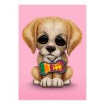 Perrito lindo con la placa de identificación srila tarjeta de visita