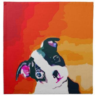 Perrito lindo de Boston Terrier Servilleta De Papel
