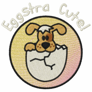 Perrito lindo de Eggstra en huevo