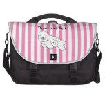 Perrito lindo de la cría de foca bolsas para portatil