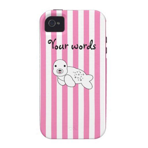 Perrito lindo de la cría de foca Case-Mate iPhone 4 carcasas
