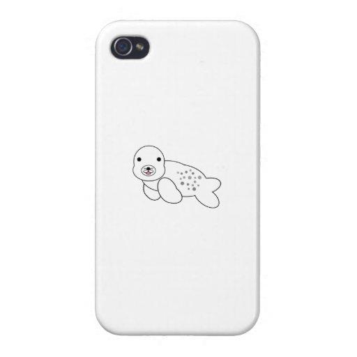 Perrito lindo de la cría de foca iPhone 4 cárcasa