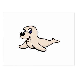 perrito lindo de la cría de foca tarjetas postales