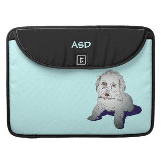Perrito lindo de Maltipoo personalizado Funda Para Macbooks