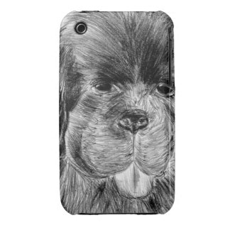 Perrito lindo de Terranova Case-Mate iPhone 3 Coberturas