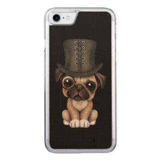 Perrito lindo del barro amasado con negro del funda para iPhone 7