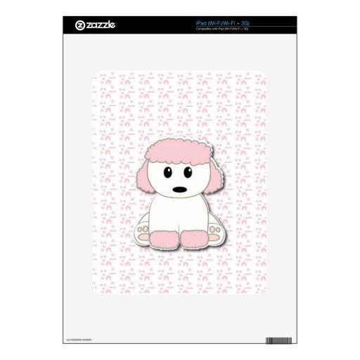 Perrito lindo del caniche skins para iPad