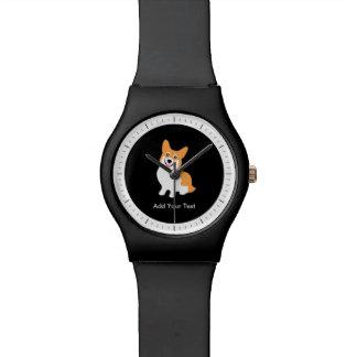 Perrito lindo del Corgi del Pembroke Galés Relojes De Mano