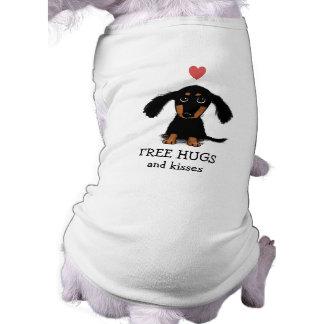Perrito lindo del Dachshund con el corazón y el Playera Sin Mangas Para Perro