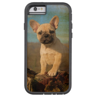 Perrito lindo del dogo francés, vintage funda de iPhone 6 tough xtreme