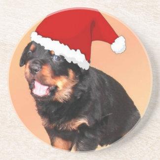 Perrito lindo del navidad posavasos manualidades