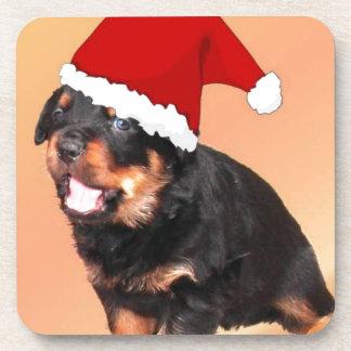 Perrito lindo del navidad posavasos