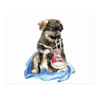 Perrito lindo del pastor alemán, perro, animal de  tarjeta postal