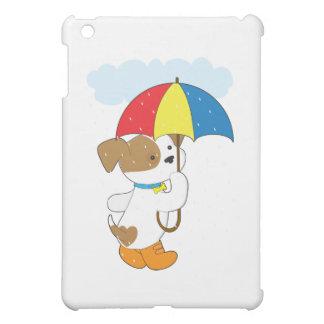 Perrito lindo en lluvia
