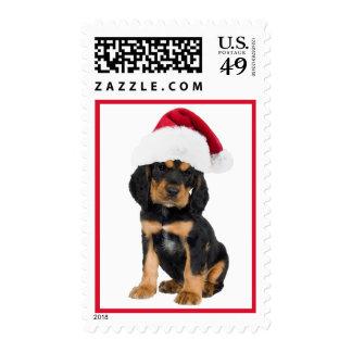 Perrito lindo en navidad del sello de los E.E.U.U.