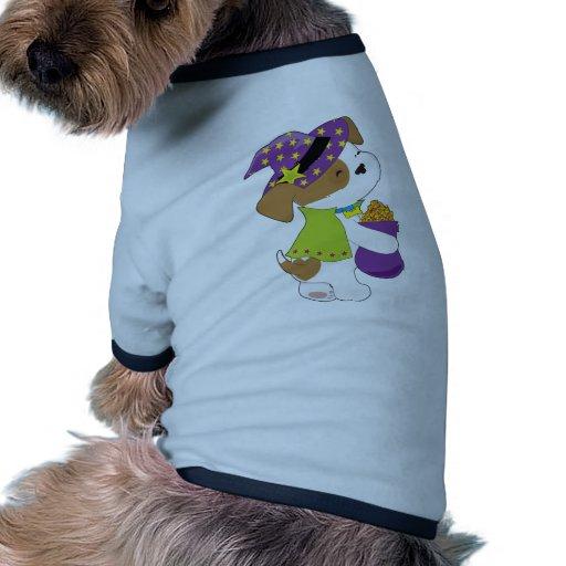 Perrito lindo Halloween Camiseta Con Mangas Para Perro
