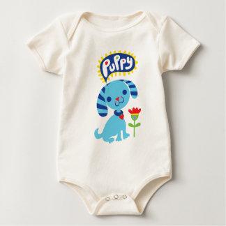 Perrito lindo mamelucos de bebé