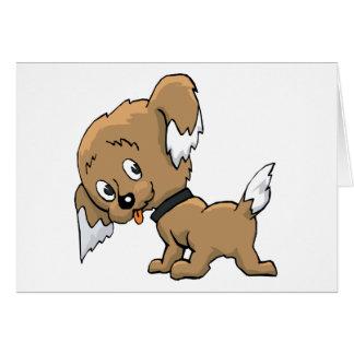 Perrito lindo tarjeta de felicitación
