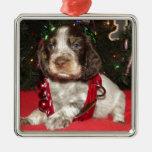 Perrito melado del navidad del perro de aguas de s ornamento para arbol de navidad