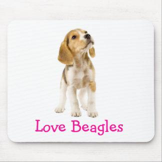 Perrito Mousepad de los beagles del amor Tapete De Ratones