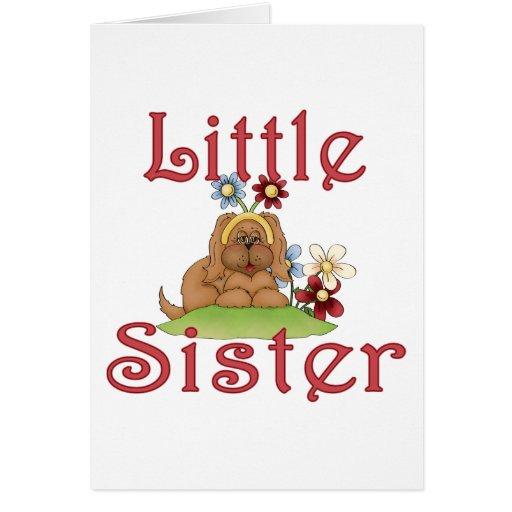 Perrito mullido 1 de la pequeña hermana felicitacion