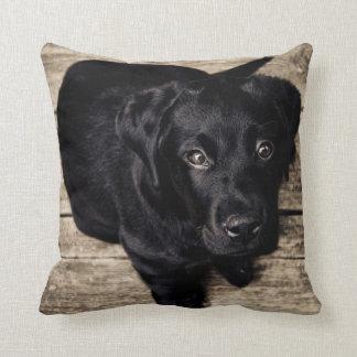 Perrito negro adorable de Labrador Almohadas