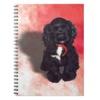 Perrito negro de cocker spaniel - Abby Note Book