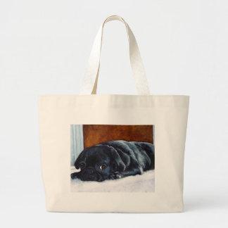 Perrito negro del barro amasado bolsas