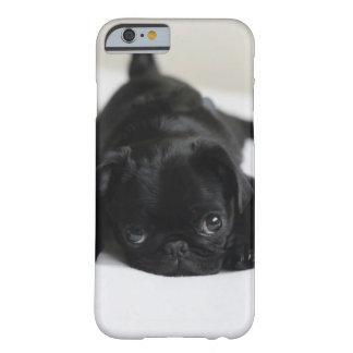 Perrito negro del barro amasado funda barely there iPhone 6
