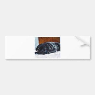 Perrito negro del barro amasado pegatina para auto