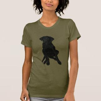 Perrito negro del laboratorio camisetas