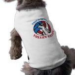 Perrito orgulloso ser una camisa de la llama del v playera sin mangas para perro