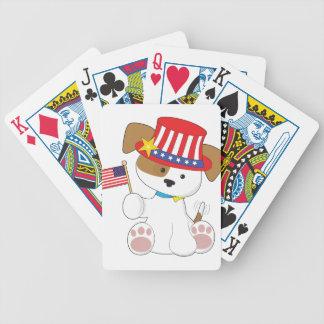Perrito patriótico baraja de cartas