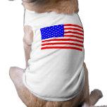 Perrito patriótico camisetas mascota